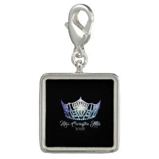 Miss America Baby Blue Crown SP Charm-Custom Name