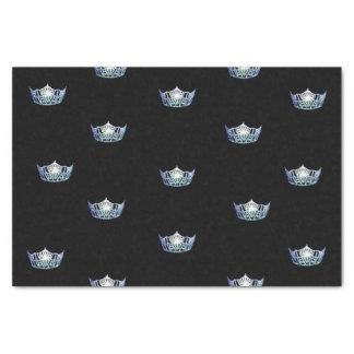 Miss America Baby Blue Crown Tissue Paper