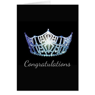 Miss America Bby Blue Crown Greeting Card-Congrats Card