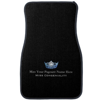 Miss America Blue Crown Custom Name Awards Car Mat