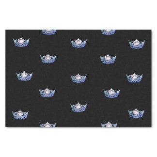 Miss America Blue Crown Tissue Paper
