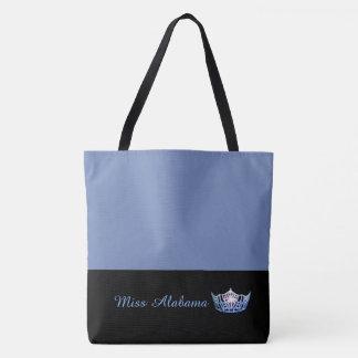 Miss America Blue Crown Tote Bag-Medium Blue