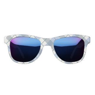 Miss America Blue Plaid Print Sunglasses