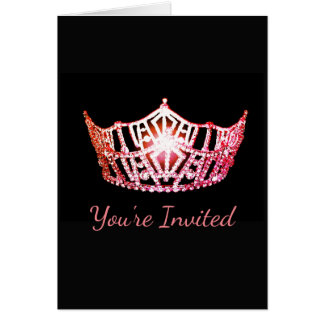Miss America Coral Crown Greeting Card-Invite Card