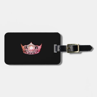Miss America Coral Pink Crown Luggage Tag