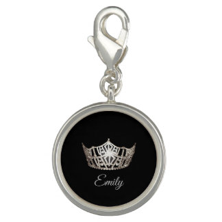 Miss America Crown SP Charm-Personal Name
