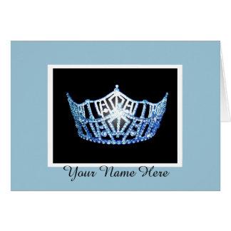 Miss America Custom Crown Thank You Card