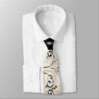 Miss America Gold Crown Scroll Print Tie