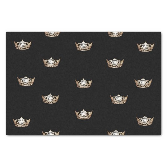 Miss America Gold Crown Tissue Paper
