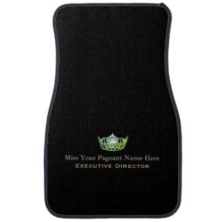 Miss America Green Crown Custom Name Car Mat