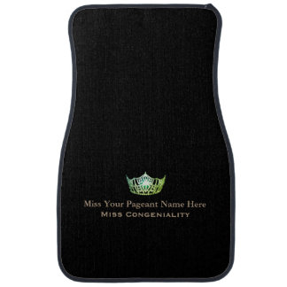 Miss America Green Crown Name Awards Car Mat