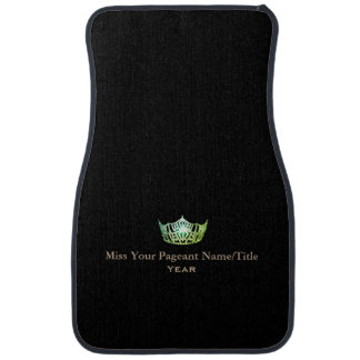 Miss America Green Crown Name & Year Car Mat