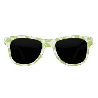 Miss America Green Floral Print Sunglasses