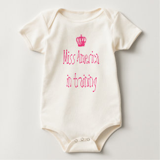 Miss America in training Baby Bodysuit