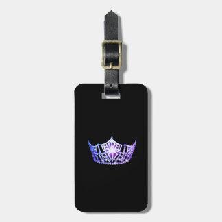 Miss America Lavender Crown Luggage Tag-Vertical Luggage Tag