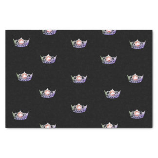Miss America Lavender Silver Crown Tissue Paper