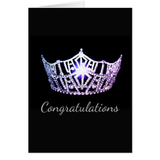 Miss America Lilac Crown Greeting Card-Congrats Card