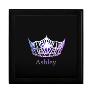 Miss America Lilac Crown Personalized Jewelry Box