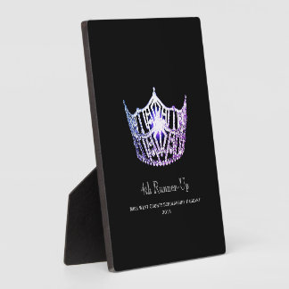 Miss America Lilac Crown Runner-up Plaque