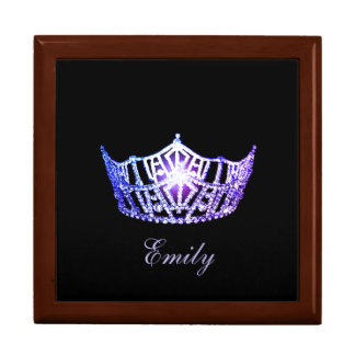 Miss America LVNDR Crown Personal Name Jewerly Box Large Square Gift Box