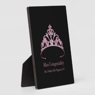 Miss America Mauve Tiara Crown Awards Plaque