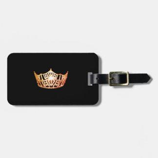 Miss America Orange Crown Luggage Tag