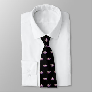 Miss America Orchid Crown Men's Tie