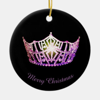 Miss America Orchid Crown Round Ornament