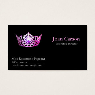 Miss America Personalized Pageant Business Cards