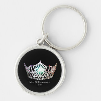 Miss America Personalized Silver Crown Key Chain