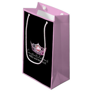 Miss America Pink Crown 2-Tone Pink Gift Bag-Small Small Gift Bag