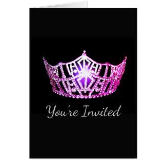 Miss America Pink Crown Greeting Card-Invite Card