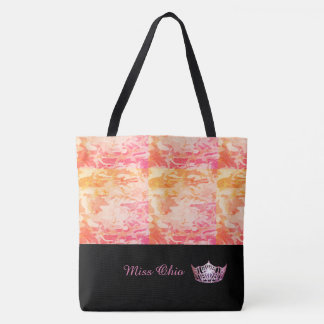 Miss America Pink Crown Tote Bag  Sunset Camo