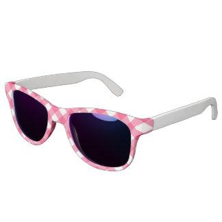 Miss America Pink Plaid Print Sunglasses