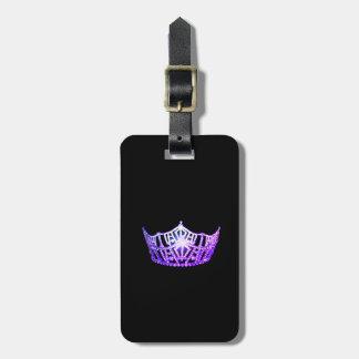 Miss America Purple Crown Luggage Tag-Vertical Luggage Tag