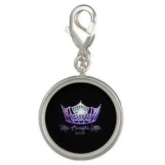 Miss America Purple Crown SP Charm-Custom Name