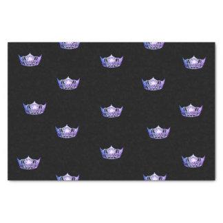 Miss America Purple Crown Tissue Paper