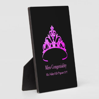 Miss America Purple Tiara Crown Awards Plaque