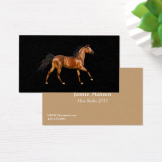 Miss America Rodeo Horse Business Cards
