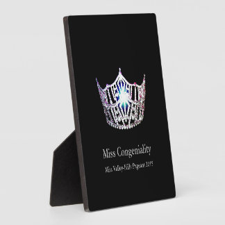 Miss America Silver Crown Awards Plaque