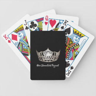 Miss America Silver Crown Custom Playing Cards