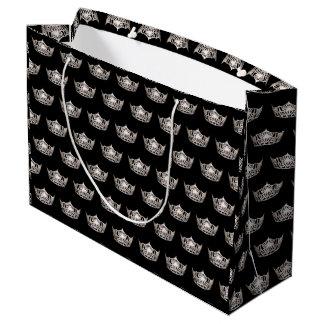Miss America Silver Crown Gift Bag-Large Large Gift Bag