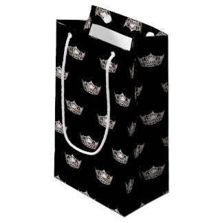 Miss America Silver Crown Gift Bag-Small Small Gift Bag