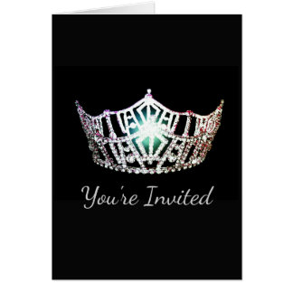 Miss America Silver Crown Greeting Card-Invite Card