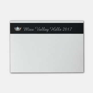 Miss America Silver Crown & Name Post-it-Notes Post-it Notes