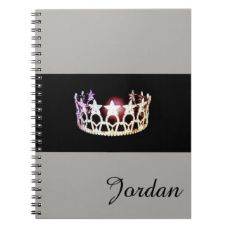 Miss America Silver Crown Notebook Custom Name