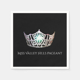 Miss America Silver Crown Paper Napkins