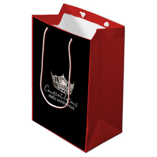 Miss America Silver Crown Red Gift Bag-Medium Medium Gift Bag