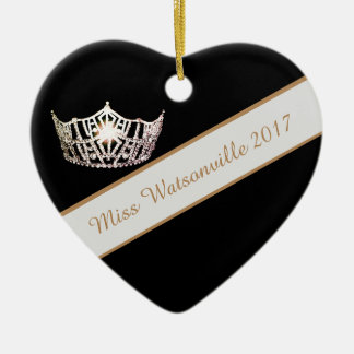 Miss America Silver Crown & Sash Ornament