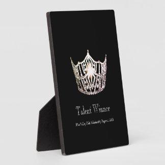 Miss America Silver Crown Talent Winner Plaque